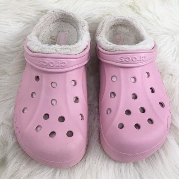 CROCS Shoes | Pink Faux Fur Lined Crocs